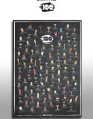 Fun scratch poster with 101 of the best cocktails for you to make