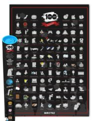 Fun scratch poster ideal for students who have graduated with 101 fun things to do
