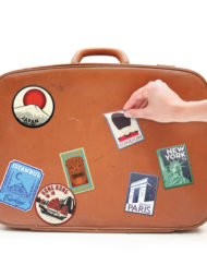 Vintage Luggage Labels a great way to personalise your suitcase