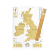 Fun scratch map poster of the United Kingdom UK