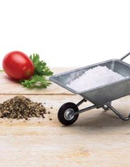 Fun miniature wheel barrow ideal for a kitchen table with spices or salt and pepper