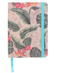 Note book with tropical cheese leaf design